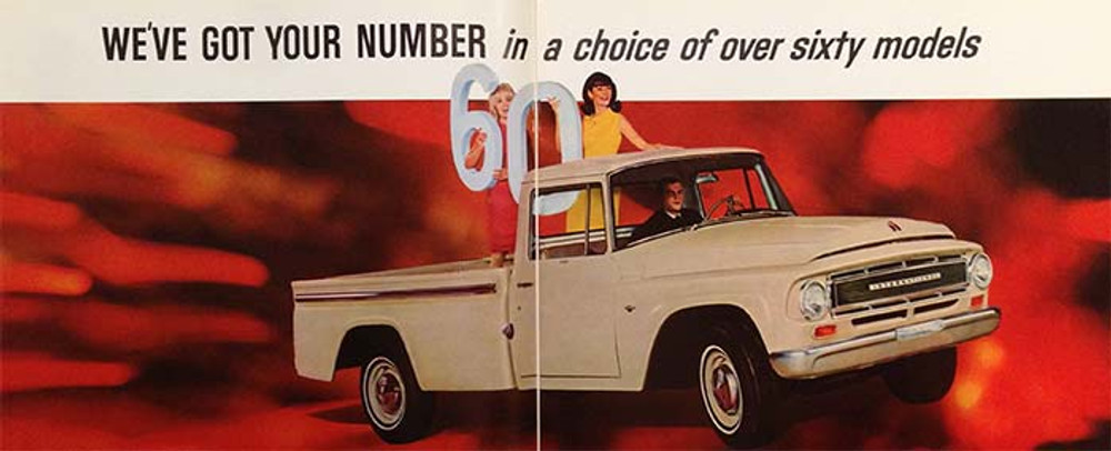 International Harvester Pickup Trucks Color Brochure