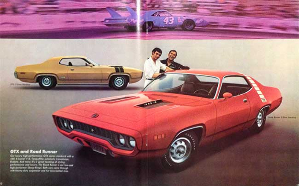1971 Plymouth Satellite, Road Runner, and GTX Brochure