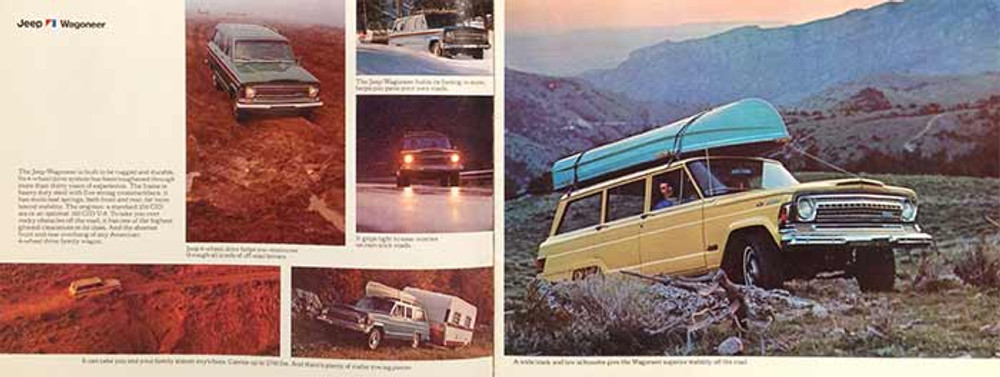 1973 Jeep Wagoneer, Commando, Jeep Trucks Dealer Brochure