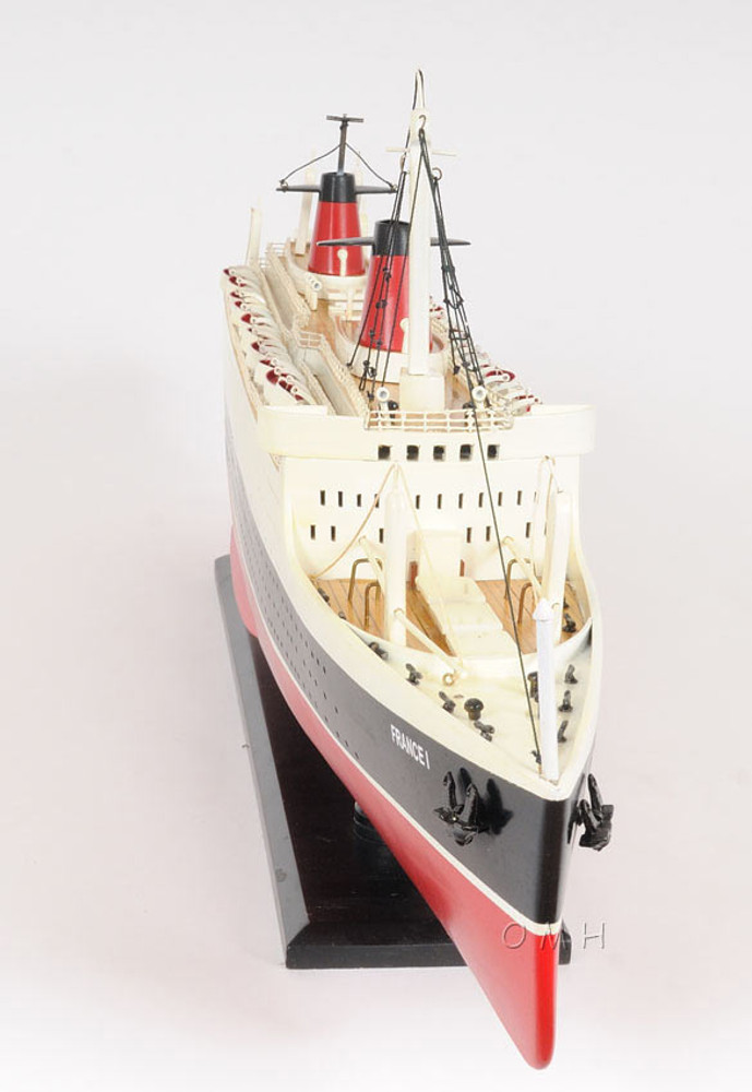 SS France Painted Ship Model