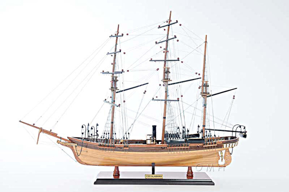 CSS Alabama Ship Model without Sails