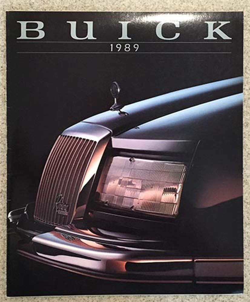 1989 Buick Full Line 45-Page Dealer Color Catalog