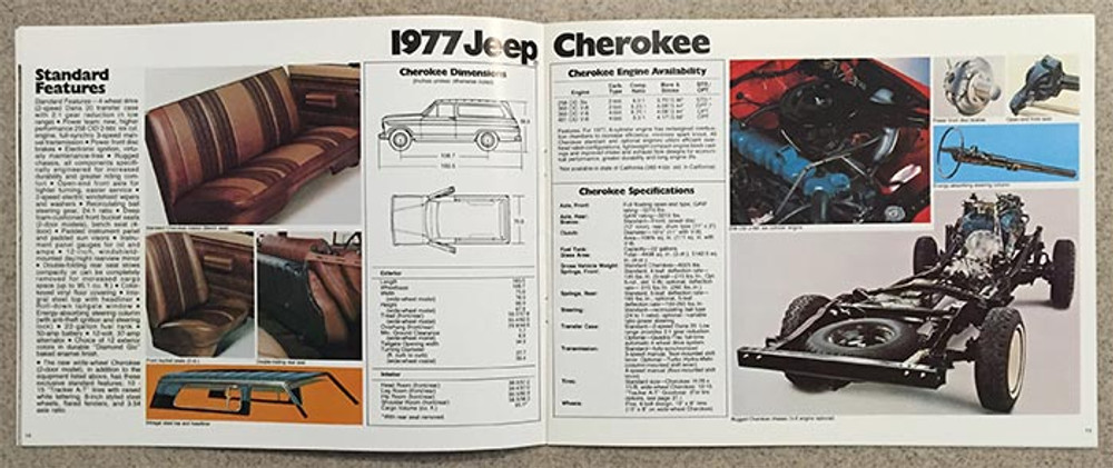 1977 Jeep CJ-7, CJ-5, Cherokee, Wagoneer, and Pickup Dealer Catalog