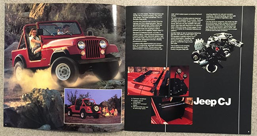 1985 Jeep CJ, Scrambler, Pickup 16-Page Dealer Brochure