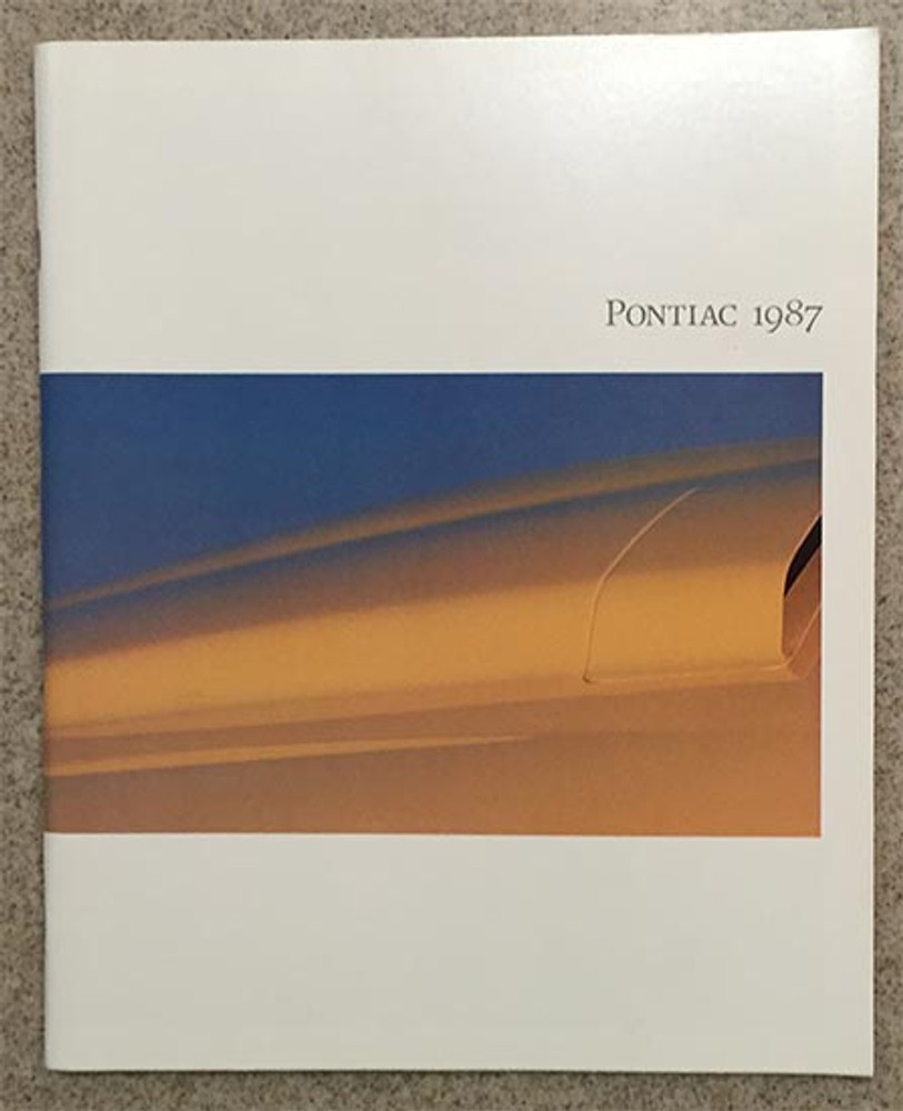1987 Pontiac Full Line 76-Page Dealer Brochure