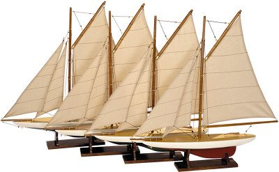 Authentic Models Mini Pond Yachts, Set of 4 Sailboats