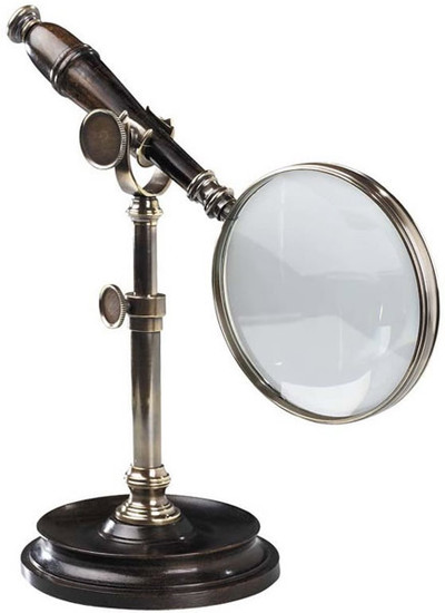 Magnifying Glass with Bronzed Stand