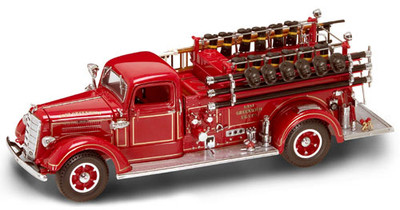 Yat Ming 1938 Mack Type 75 Fire Truck Red