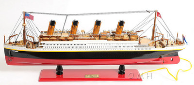 RMS Titanic with Lights Ship Model