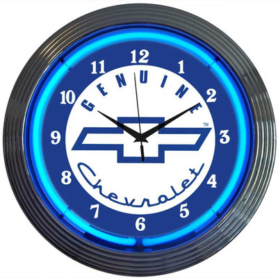 Neonetics Genuine Chevy Neon Clock