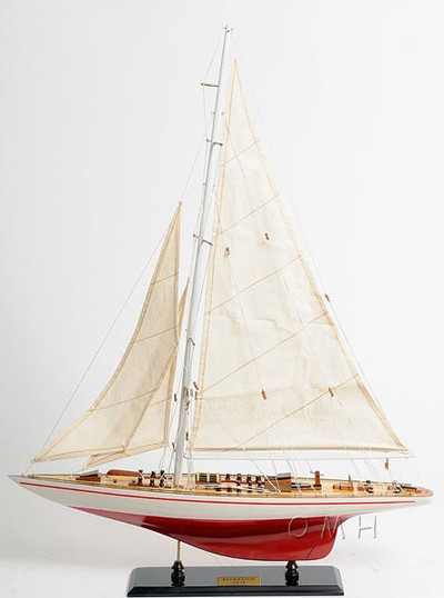 Endeavour Painted Version Yacht Model