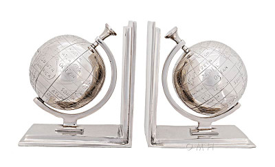 Aluminum Globe Bookends