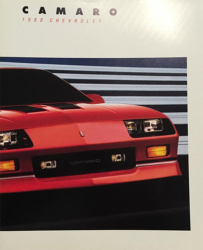 1988 Chevrolet Camaro 18-Page Color Sales Brochure