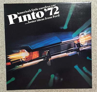1972 Ford Pinto Color Car Brochure