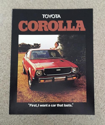 1976 Toyota Corolla Original Dealer Brochure