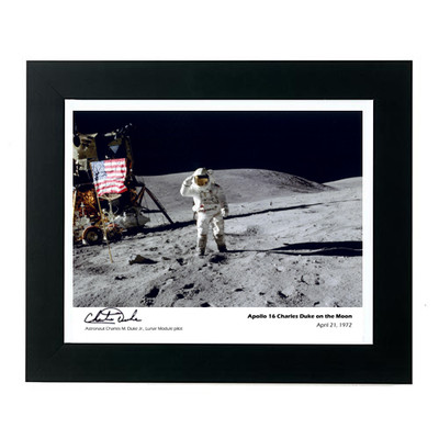 Apollo 16 Framed Photo Astronaut Charles Duke Signed Edition