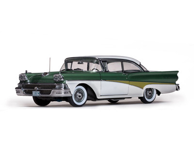 1958 Ford Fairlane 500 Hard Top Silvertone Green