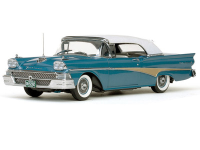 1958 Ford Fairlane 500 Closed Convertible Silverstone Blue