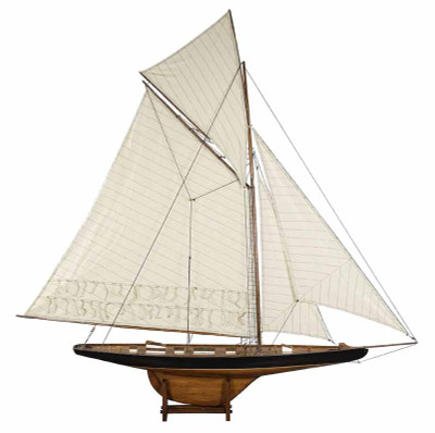 1901 America's Cup Columbia Large Sailboat Model