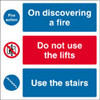 Fire action notice. On discovering a fire