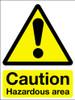 Caution hazardous area sign