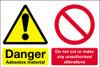 Danger asbestos material sign