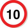 10 mph sign