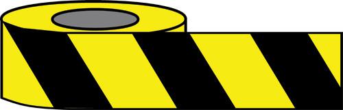 Black/Yellow Hazard warning tape