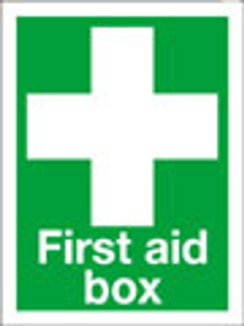 First aid box sign