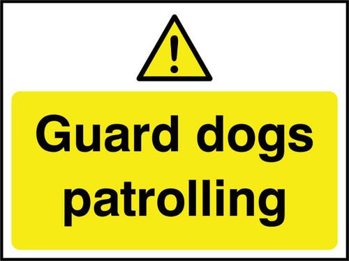 Guard dogs patrolling