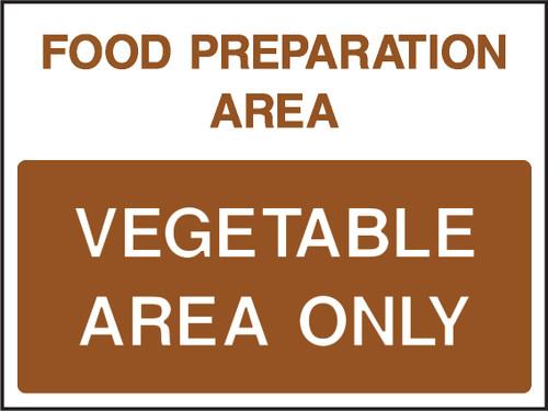 Food prep area vegatable area only