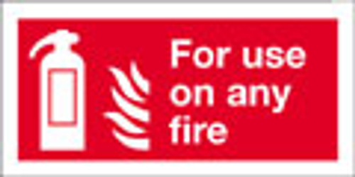 Fire extinguisher sign for use on any fire