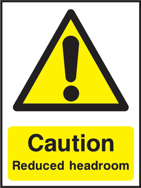 Caution reduced headroom
