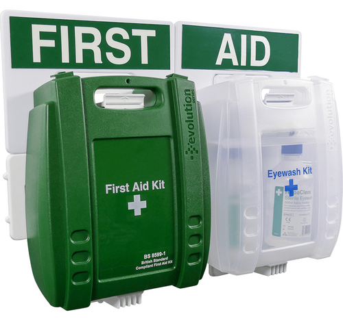 Evolution Catering First Aid & Eyewash Points