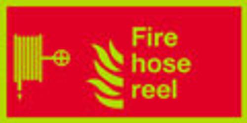 Fire hose reel sign, nite-glo