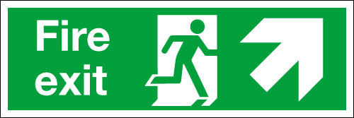 Fire exit Sign Up/Right