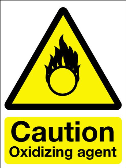 Caution oxidizing agent sign