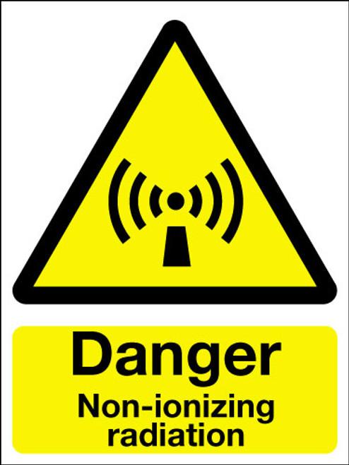 Danger non-ionizing radiation sign