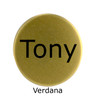 Personalized Printed Ball Marker - Choice of Font