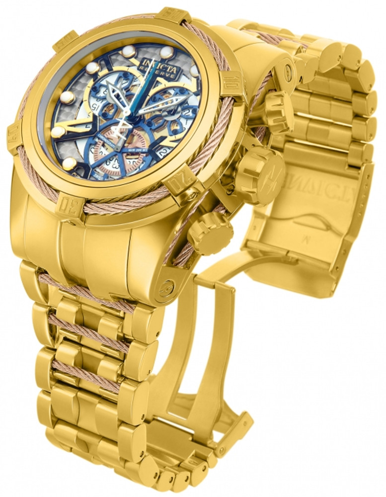 Invicta 12902 Reserve Men's Bolt Zeus Swiss Made COSC Quartz Chronograph Bracelet Watch | Free Shipping