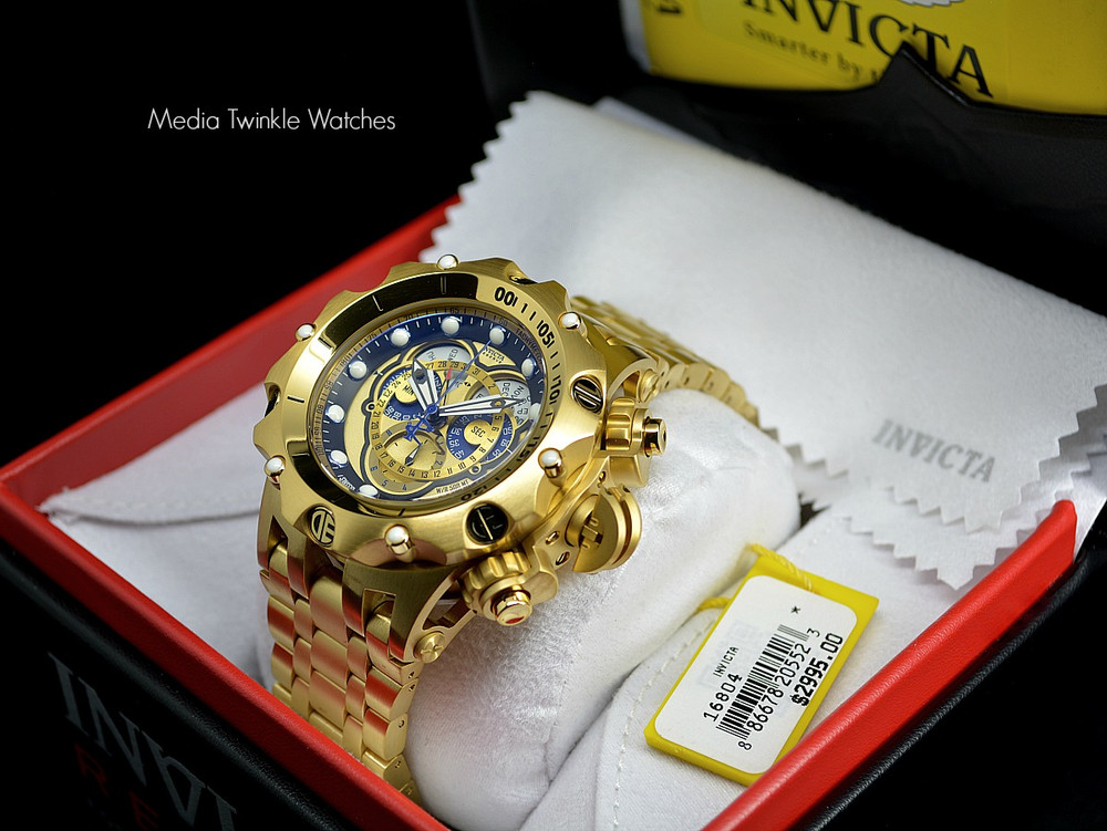 Invicta 16804 Reserve VENOM Hybrid Gold 5040F Swiss Quartz Chronograph Bracelet Watch | Free Shipping