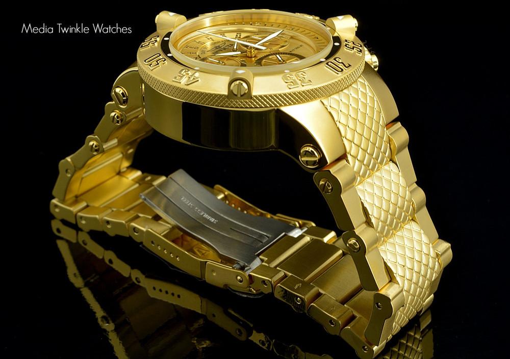 Invicta 17615 Men's Subaqua Noma III Swiss Quartz Chronograph Gold Tone Dial Watch | Free Shipping