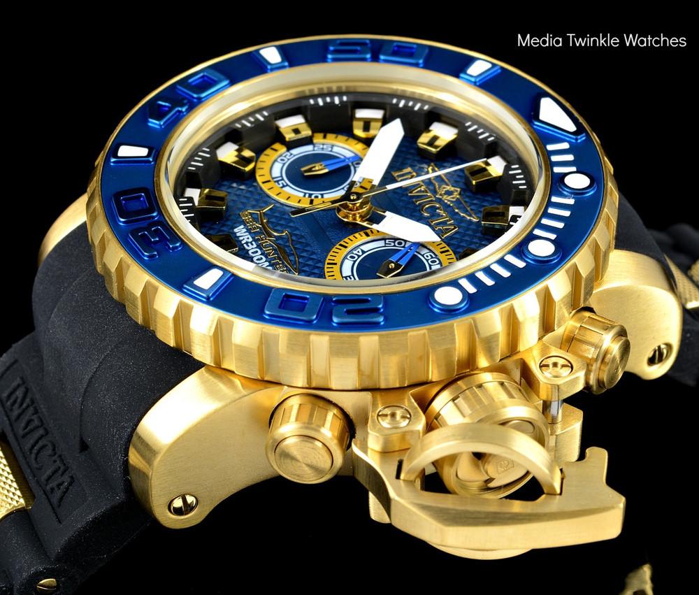 Invicta 20476 Sea Hunter 50mm Torpedo Swiss Made Quartz Chronograph Silicone Strap Watch | Free Shipping