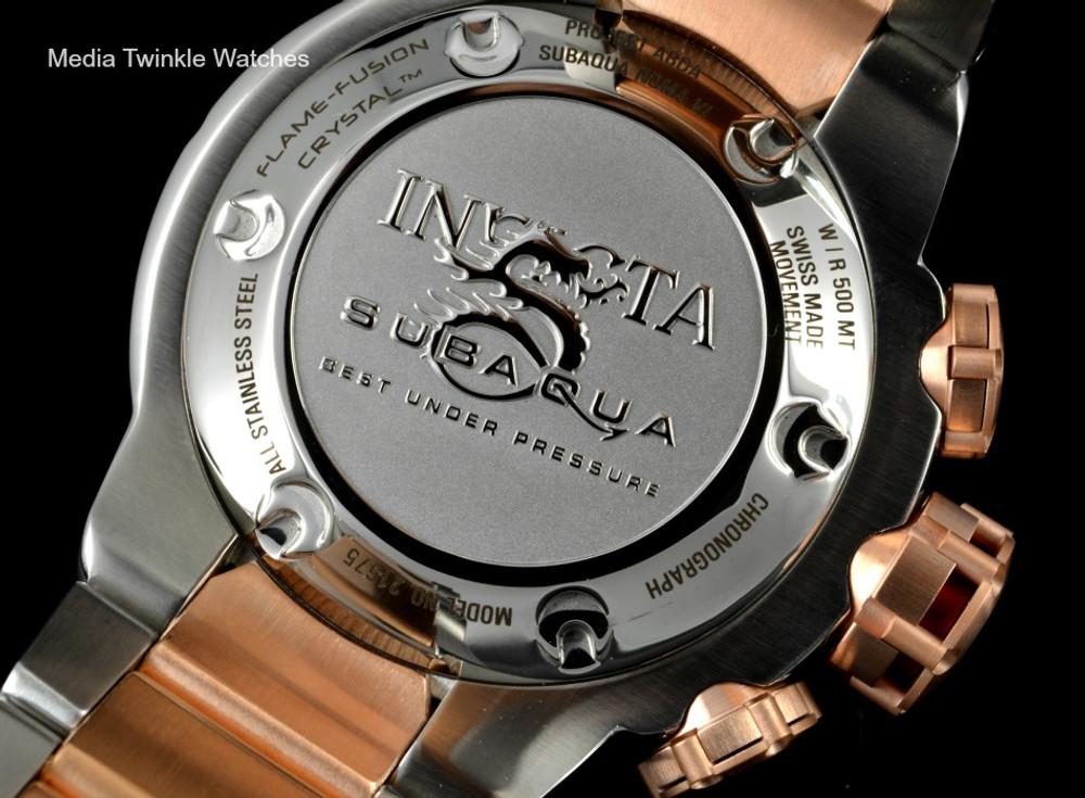 Invicta 21675 Subaqua Noma VI Swiss Quartz Chronograph Rose Tone & Black Bracelet Watch