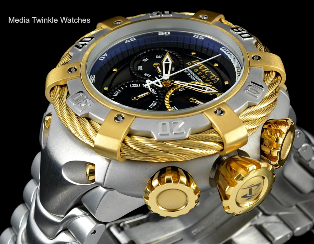 Invicta 21355 Reserve 56mm Thunderbolt Swiss Quartz Chronograph Rose Tone & Silver Bracelet Watch
