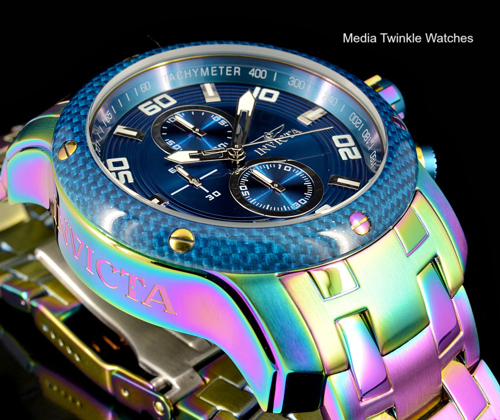 Invicta 24158 ProDiver 48mm Blue Dial Iridescent Finish Bracelet Watch