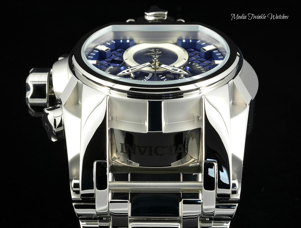 Invicta 52mm Reserve Bolt Zeus MAGNUM Swiss Quartz Dual Movement Bracelet Watch 25207