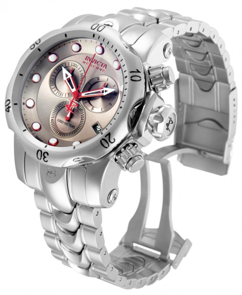 Invicta 11786 Reserve Men's Venom Grey Sunray Dial Swiss Made Quartz Chronograph Stainless Steel Bracelet Watch | Free Shipping
