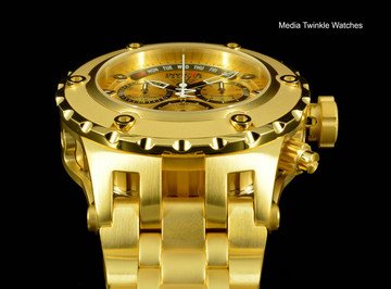 Invicta 1568 Reserve Men's Specialty Subaqua Swiss Quartz Gold Tone Chronograph Bracelet Watch | Free Shipping