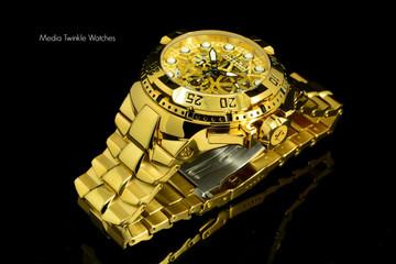 Invicta 15980 Reserve Excursion II z60 Swiss Quartz Chronograph Gold Bracelet Watch | Free Shipping